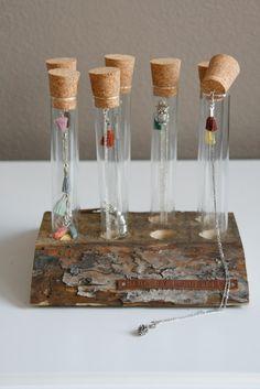 Necklaces presented in tubes, super idea! - Pinterest pic picks by RetoxMagazine.com