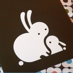 bunny and baby bunny-would love to see this as an applique in a quilt.