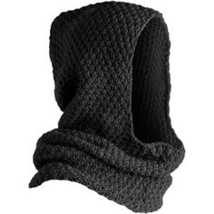 Knit/crochet a rectangle in stitches of your choice until it's a goodly size. Mattress-stitch the top and front of the hood to make a comfortable garment.Hooded cowl for menKnitting Patterns Men Knitted man& snipe / hat-hood with knitting needles. Winter Accessories, Fashion Accessories, Knit Crochet, Crochet Hats, Hooded Scarf, Dark Fashion, Pulls, Cool Outfits, Scarves