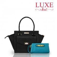 #LuxeInLove COMBO BOLSO SATCHEL NEGRO CATHERINE MALANDRINO