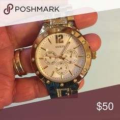 Guess watch Guess gold watch with stones Accessories Watches
