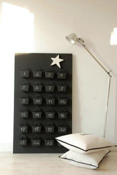 Adventskalender - Schachteln schwarz