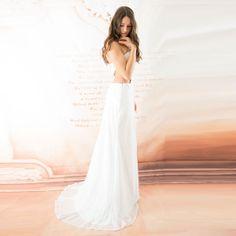 Super sexy Pailletten verziert Spitze Brautkleid