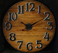 30 Inch RECYCLED WALL CLOCK Cut From by ClocksByHomestead on Etsy, $149.00