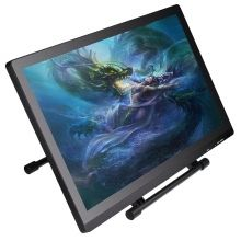 21.5 Inch High Resolution 1920x1080 LED Monitor Display 5080LPI HD Graphics Digital IPS Drawing Tablet Writing Pad Adjustable Stand with Intelligent Pen Pressure Sensitivity 2048 Levels