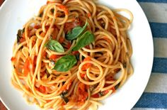 Spaghetti with Late Summer Tomatoes Recipes