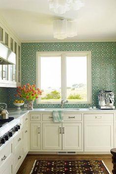 DIY tile backsplash idea | Go Haus Go