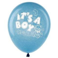 "HOBBY LOBBY ITEM - Announce the gender of your sweet little baby with It's A Boy Printed Balloons! Featuring an adorable ""It's A Boy"" illustration in white, these blue balloons are perfect for accenting your upcoming baby shower. Blow them up and hang them where you want your happy news to shine!    	     	Dimensions:    	  		Size: 12"" (When Inflated)      	     	Package contains 8 balloons."