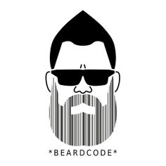 "An interesting take on the barcode -- ""beardcode"""