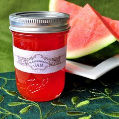 Watermelon Jam jelly can canned homemade Chutneys, Blondie Cake, Watermelon Jelly, Watermelon Syrup, Sweet Watermelon, Do It Yourself Food, Jam And Jelly, Home Canning, Sauces