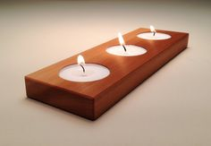 Wooden Candle Holder in Reclaimed Wood by andrewsreclaimed on Etsy