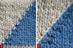 Smooth the Jagged Edge with Shaped Intarsia - Knitting Daily Includes instructions.