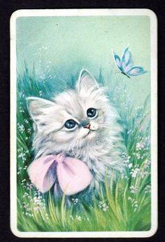 Gorgeous Kitten Watching Butterfly