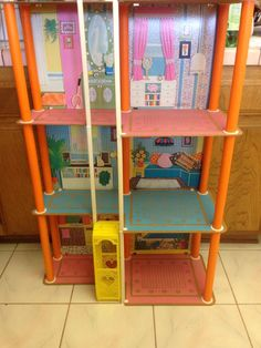 1975 Barbie's Townhouse Doll Play House Elevator Box Mattel 7825 No Furniture