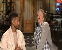 Video: Will Ferrell hurts himself showing Usher his signature move in SNL promo #examinercom