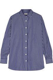 TotêmeCapri striped cotton-poplin shirt