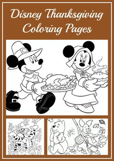 Disney Thanksgiving Coloring Pages Crafts Printables ColoringPages ColoringSheets