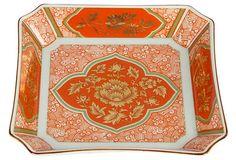 Orange Chinoiserie Jewelry Dish