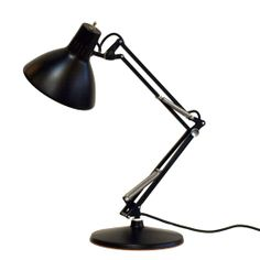 vintage luxo lamp in black. Style + function perfection. (http://www.abodeon.com/luxo-lamp/)