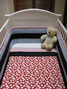 3 Piece Baseball Crib Set By Sweetdreamdesigns On Etsy 39500