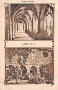 Cammin Pommern Kreuzgang des Domes Postkarte