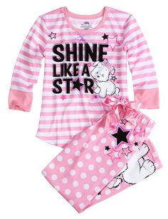 Lulu Dog Star Pajama Sleep Set | Pant Sets | Pajamas | Shop Justice