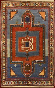 ANTIQUE KAZAK RUG cod. 141025648133 cm 180 x 143
