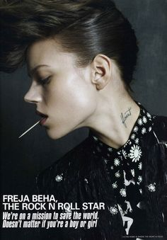 We're on a mission to save the world, it doesn't matter if you're a boy or a girl. #freja