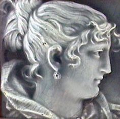 Antique Victorian Athena Majolica Ceramic Tile