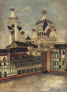 """""""Church Sacre-Couer"""" - Maurice Utrillo  www.artexperiencenyc.com"""