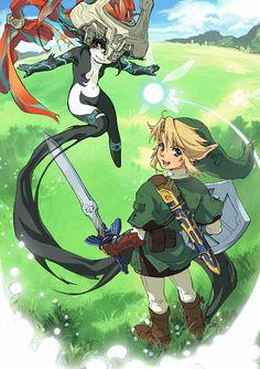 Link, Navi, and Midona