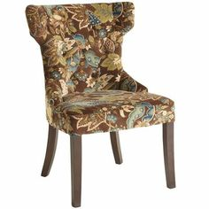 Hourglass Dining Chair - Peacock Floral