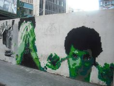 """see no evil, hear no evil, speak no evil"" graffiti mural in Hamra, Beirut, Lebanon {photo by India Stoughton on Hibr.me, via Flickr}"