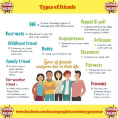 Types of friends. Which ones do you have?