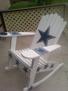 Cowboys Lawn Rocking Chair.. Perfect For The Real Fans.