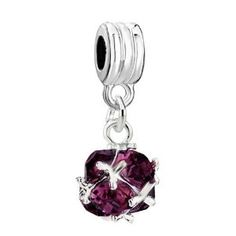 Pugster Classic February Purple Art Ball Dangle Spacer Bead Fit Pandora Charm & Bracelet - http://www.wonderfulworldofjewelry.com/jewelry/charms/pugster-classic-february-purple-art-ball-dangle-spacer-bead-fit-pandora-charm-bracelet-com/ - Your First Choice for Jewelry and Jewellery Accessories