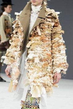 Deconstruction weaving technics.  Victor and Rolf fall couture 2016