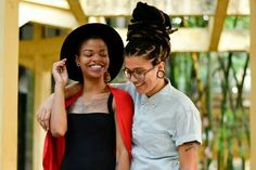 """#BlackGirlMagic - AFROPUNK readers Jessyca Alves (right) and her girlfriend Rosana Theodora  Photo by Andressa Carvalho and Fernanda Passos  """"We are black, lesbians and mothers"""" --> http://www.afropunk.com/photo/jessyca-alves-rosana-theodora"""