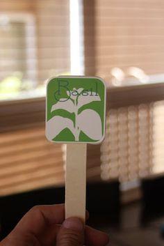 Printable Garden Herb Markers