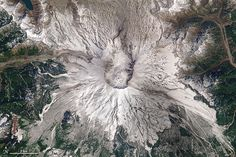 In May 1980, a satellite watched the mountain violently erupt; satellites over the next forty years watched it recover.