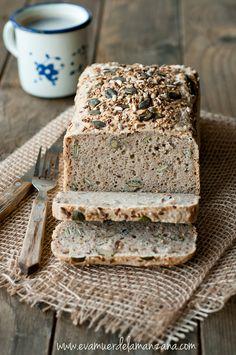Pan de trigo sarraceno remojado y yuca