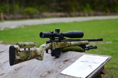 Multicam bolt rifle