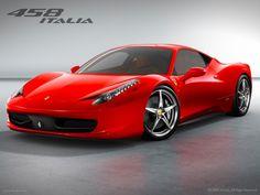 Ferrari 458 Italia, red.  Sweet sweet car.