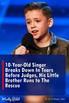 10-Year-Old Singer Breaks Down in Tears Before Judges, His Little Brother Runs to The Rescue