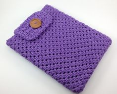 Hand Crocheted Ipad Sleeve / Cover / Case with by TheCheeryEwe, $14.00