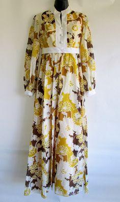 Mod Groovy Vintage 1960s/70s Handmade Floral by MidCenturyModOne