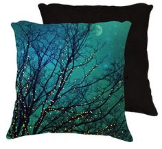 Nature pillow18x18 or 22x22 Magical night by VintageChicImages, $40.00