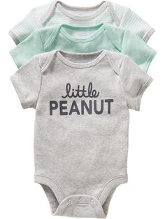 Old Navy Bodysuit 3 Packs For Baby from Old Navy. Saved to Son. Shop more products from Old Navy on Wanelo. Gender Neutral Baby Clothes, Cute Baby Clothes, Babies Clothes, Peanut Baby Shower, Baby Boy Fashion, Kids Fashion, Everything Baby, Baby Time, Future Baby