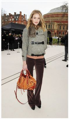 at 2012 Burberry, fashion week.