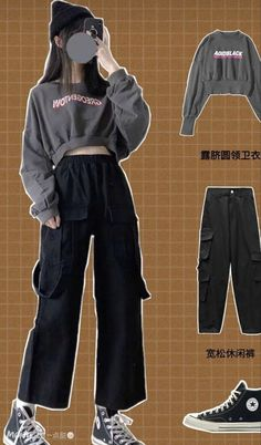 Kpop Fashion Outfits, Girls Fashion Clothes, Edgy Outfits, Retro Outfits, Mode Outfits, Cute Casual Outfits, Dance Outfits, 80s Fashion, French Fashion